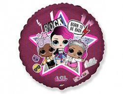 "Круг фольга ""Куклы Лол"",розовый, 46 см"