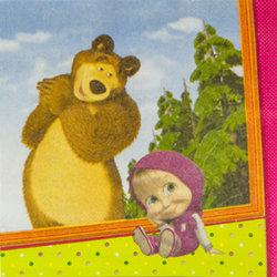 """Салфетки """"Маша и медведь"""", 12 шт"""