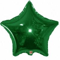 """Шар (18""""/46 см, 32''/81 см) Звезда, Зеленый, 1 шт."""