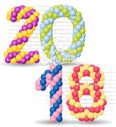 Цифра плетенная из шаров. Цена за 1 шт.
