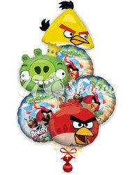 """Букет """"Компания Angry Birds"""""""