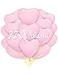 """Облако шаров """"Сердца"""" Розовые 16""""/41 см"""