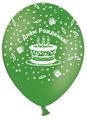 Шар (12''/30 см) С Днем рождения! (пирожные), Ассорти, пастель, 5 ст