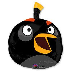 "Шар-фигура ""Angry Birds Черная Птица"" 61 см"
