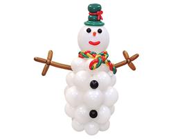 "Фигура из шаров ""Новогодний Снеговик"""