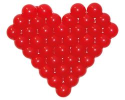 "Фигура из шаров ""Сердце Сетка"""