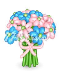 """Цветы из шаров """"Букет 10"""""""