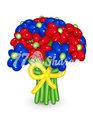 """Цветы из шаров """"Букет 13"""""""