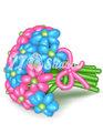 """Цветы из шаров """"100% настроения"""""""