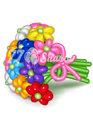 """Цветы из шаров """"Букет 5"""""""