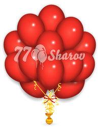 """Облако из шаров, Красные 14""""/36 см"""