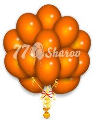 """Облако из шаров """"Оранжевые"""",36 см"""