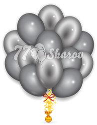 """Облако из шаров """"Серебряные"""", 36 см"""