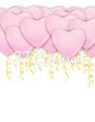 """Шары под потолок """"Сердца"""" Розовые, 41см"""