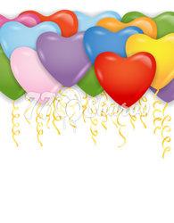 """Шары под потолок """"Сердца"""" Разноцветные, 41 см"""