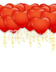"""Шары под потолок """"Сердца"""" Красные, 41 см"""