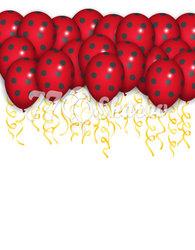 """Шары под потолок """"Красный Горошек"""", 36 см"""