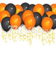 """Шары под потолок """"Оранжево-Черные"""", 36 см"""