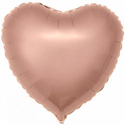 "Сердце ""Розовое золото"", 46 см"