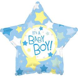 """Шар-звезда """"С рождением мальчика"""""""