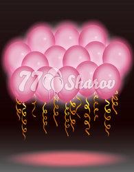 """Светящиеся шары """"Розовые"""""""