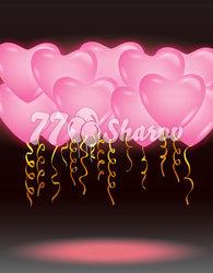 """Светящиеся шары """"Розовые Сердца"""""""