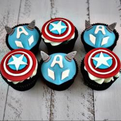 """Капкейк """"Капитан Америка"""""""