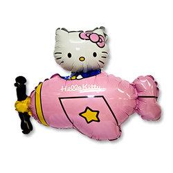 """Шар-фигура """"Hello Kitty самолет розовый"""""""