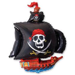 """Шар-фигура """"Корабль пиратский черный"""""""