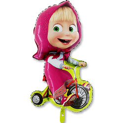 "Шар-фигура ""Маша на велосипеде"""