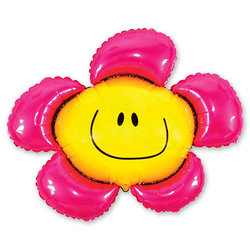 "Шар-фигура ""Цветок розовый"""