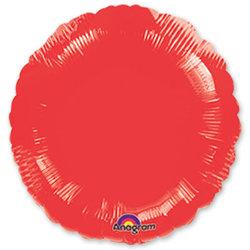 """Шар-круг """"Красный"""" 46 см"""