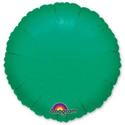"""Шар-круг """"Зеленый"""" 46 см"""