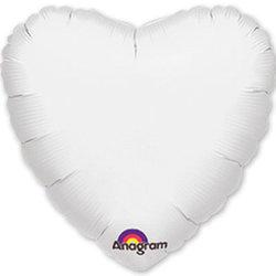 """Шар-сердце """"Белый"""" 46 см"""