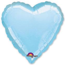 """Шар-сердце """"Голубой"""" 46 см"""