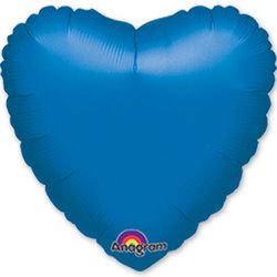 """Шар-сердце """"Синий"""" 46 см"""