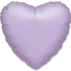 "Шар-сердце ""Сиреневый"" 46 см"