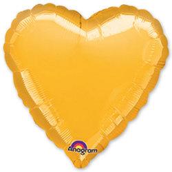 """Шар-сердце """"Золото"""" 46 см"""