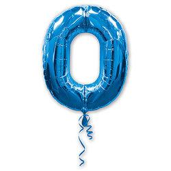"""Шар-цифра """"0"""", синий"""