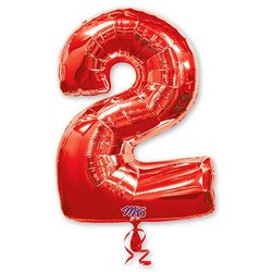 "Шар-цифра ""2"", красный"