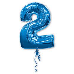 """Шар-цифра """"2"""", синий"""