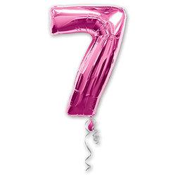 "Шар-цифра ""7"", розовый"
