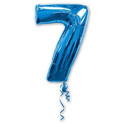 """Шар-цифра """"7"""", синий"""