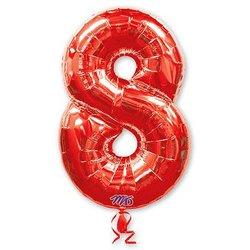 "Шар-цифра ""8"", красный"
