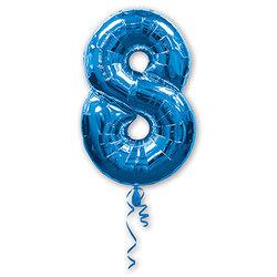 """Шар-цифра """"8"""", синий"""