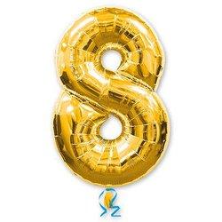 """Шар-цифра """"8"""", золото"""