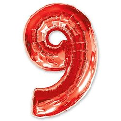 "Шар-цифра ""9"", красный"