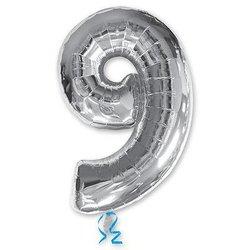 """Шар-цифра """"9"""", серебро"""