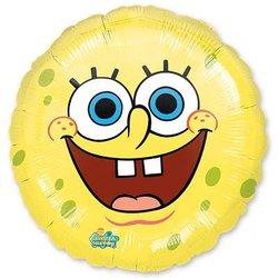 "Шар-круг ""Губка Боб улыбка"" 18"""