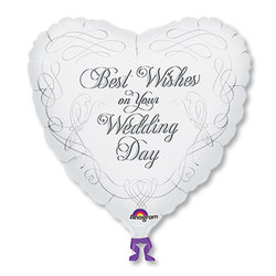 "Шар-сердце ""Свадьба Best Wishes Wedding"" 18"""